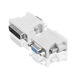 Adaptor tata DVI-D 24+1 pini la VGA mama
