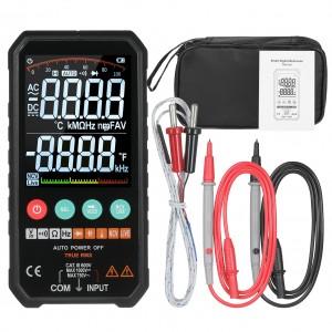 Aparat de masura digital multimetru 6000 contoare RMS AC DC NCV Tranzistor Condensator Tensiune Temperatura Smart