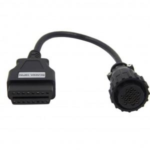 Cablu adaptor 16 pini la OBD2 pentru Scania camion tir