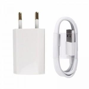Cablu de date sync 8-pin USB + incarcator travel pentru iPhone 5 5S 5C 6 6S 7 Plus IOs 10