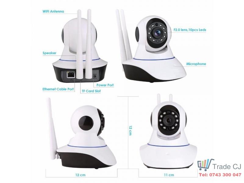 Camera ip wireless WIFI 720p wi-fi cctv supraveghere video P2P Night Vision Onvif