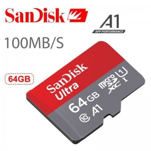 Card de memorie SanDisk Ultra micro sd 64GB 100mb/s flash clasa 10 A1 XC