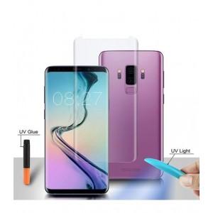 Folie sticla curbata UV Full Glue Transparenta pentru Samsung Galaxy S8 Plus