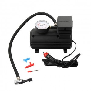 Mini pompa compresor aer cu manomentru mecanic 300PSI priza auto 12V