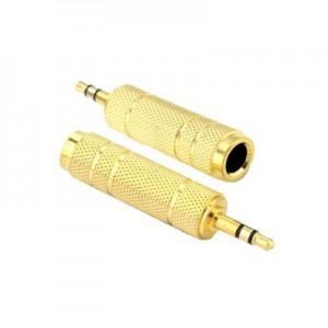 Mufa adaptor audio pentru Jack 6.5mm mama la 3.5mm tata