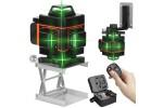 Nivela Laser raza verde 16 linii 4D Profesionala cu telecomanda si accesorii