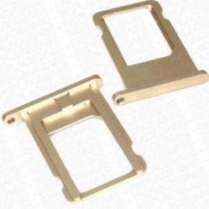 Suport/sertar original cartela SIM Apple Iphone 6 Gold